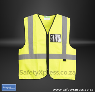 Picture of Visibility Gear EN4 Waistcoat - Lime with Silver reflective size: L (5 per Pack )