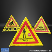 Picture of 3 Sided Foldable Road Sign Standard