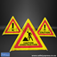 Picture of 3 Sided Foldable Road Sign Construction Caution