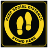 """Picture of Social Distance Floor Stickers """"Keep Social Distance"""""""