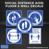 Picture of Social Distance Floor & Wall Stickers starter pack