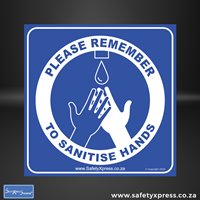 Picture of PLEASE REMEMBER TO SANITISE HANDS Sign
