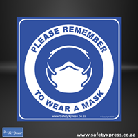 Picture of PLEASE REMEMBER TO WEAR YOUR MASK Sign