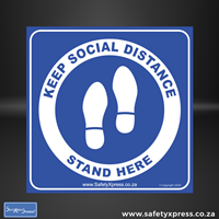 "Picture of Social Distance Floor Stickers ""Keep Social Distance"""