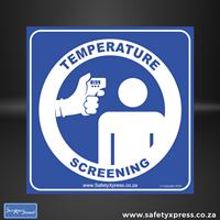 Picture of TEMPERATURE SCREENING Sign