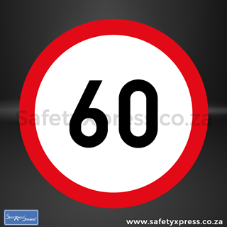 Picture of Speed Limit 60km Sign