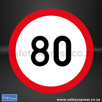 Picture of Speed Limit 80km Sign