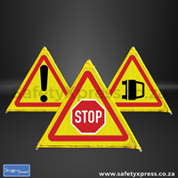 Picture of 3in1 Foldable Road Sign 500mm Combo 1