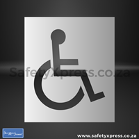 Picture of Paraplegic Disabled Stencil